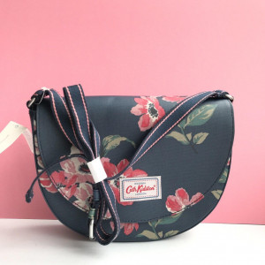 CATH KIDSTON LONDON SADDLE BAG ANENOME BOUQUET (NAVY)