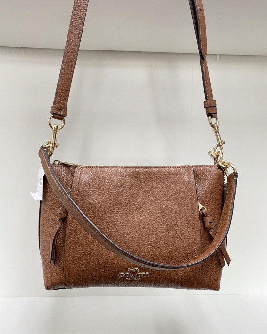 COACH SMALL MARLON SHOULDER BAG (IM/SADDLE)