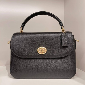 COACH MARLIE TOP HANDLE SATCHEL (IM/BLACK) - ESTIMATED TIME ARRIVAL (ETA) 26 APRIL 2021