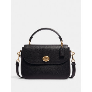COACH MARLIE TOP HANDLE SATCHEL (IM/BLACK)