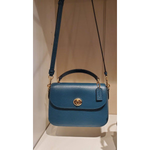 COACH MARLIE TOP HANDLE SATCHEL (IM/TEAL)
