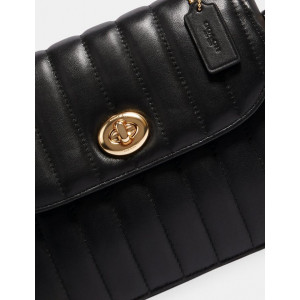 COACH MARLIE TOP HANDLE SATCHEL WITH QUILTING (IM/BLACK) - ETA (ESTIMATED TIME ARRIVAL) MALAYSIA 7 MARCH