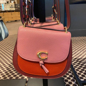 COACH REMI SADDLE BAG IN COLORBLOCK (IM/ROSE MULTI)