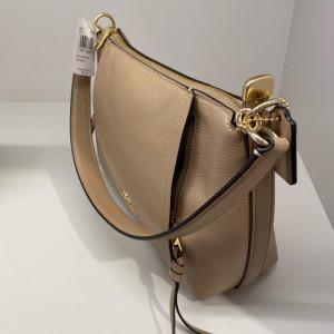 COACH SMALL MARLON SHOULDER BAG (IM/TAUPE)