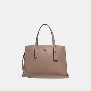 COACH CHARLIE CARRYALL ( STONE/GOLD)