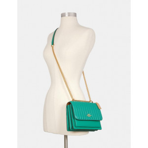 COACH KLARE CROSSBODY WITH LINEAR QUILTING (IM/GREEN)