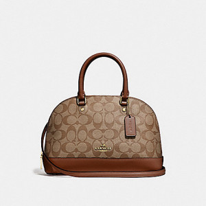 COACH MINI SIERRA SATCHEL IN SIGNATURE (SADDLE)