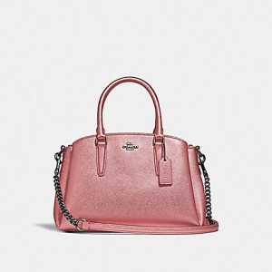 COACH MINI SAGE CARRYALL (QB/METALLIC DARK BLUSH)