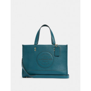 COACH DEMPSEY CARRYALL WITH PATCH (IM/TEAL INK) - ESTIMATED TIME ARRIVAL (ETA) 26 APRIL 2021