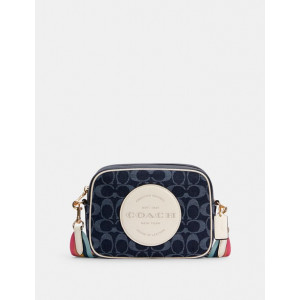 COACH DEMPSEY CAMERA BAG WITH PATCH IN SIGNATURE JACQUARD WITH PATCH (IM/BLACK)
