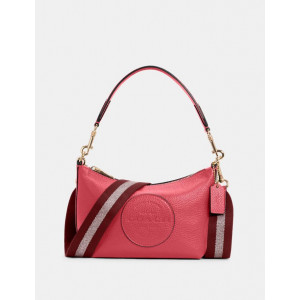 COACH DEMPSEY SHOULDER BAG WITH PATCH (IM/FUCHSIA)
