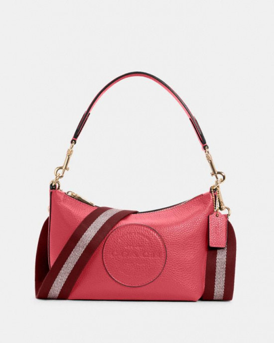 COACH DEMPSEY SHOULDER BAG WITH PATCH (IM/FUCHSIA)