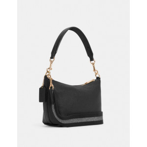 COACH DEMPSEY SHOULDER BAG WITH PATCH (IM/BLACK)
