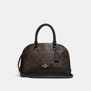 COACH MINI SIERRA SATCHEL IN SIGNATURE (BROWN BLACK) - ETA (ESTIMATED TIME ARRIVAL) MALAYSIA 16 JUNE