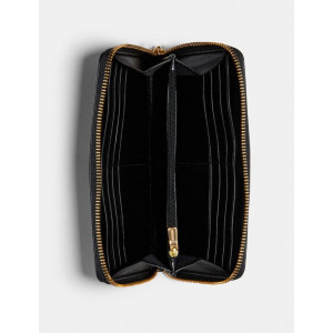 COACH ACCORDION ZIP WALLET WITH LINEAR QUILTING (IM/BLACK) - ETA (ESTIMATED TIME ARRIVAL) MALAYSIA 7 MARCH