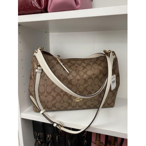 COACH MIA SHOULDER BAG IN SIGNATURE CANVAS ( KHAKI/CHALK/GOLD) - ETA (ESTIMATED TIME ARRIVAL) MALAYSIA 26TH OCTOBER