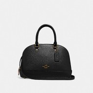 COACH MINI SIERRA SATCHEL (BLACK)