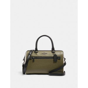 COACH ROWAN SATCHEL IN COLORBLOCK (QB/KELP MUTLI)