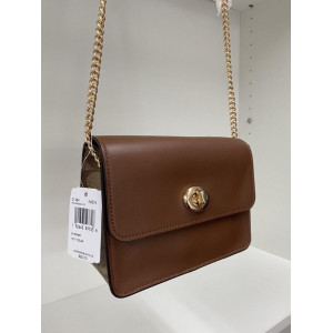 COACH BOWERY CROSSBODY WITH SIGNATURE CANVAS (IM/KHAKI SADDLE 2)