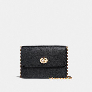 COACH BOWERY CROSSBODY (BLACK/LIGHT GOLD)