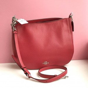 COACH ELLE HOBO (BRIGHT RED)