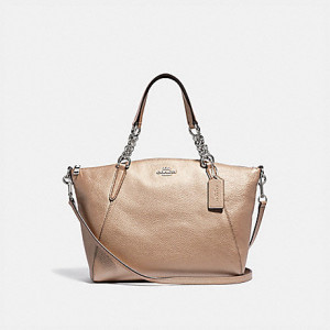 COACH SMALL KELSEY CHAIN SATCHEL (SV/PLATINUM)