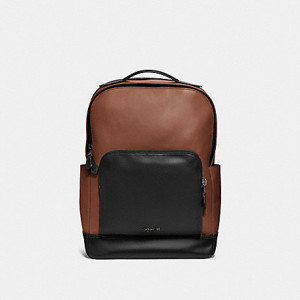 COACH GRAHAM BACKPACK (SADDLE/BLACK ANTIQUE NICKEL)