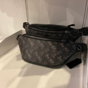 COACH WARREN MINI BELT BAG WITH HORSE AND CARRIAGE PRINT (QB/BLACK MULTI) - ETA (ESTIMATED TIME ARRIVAL) MALAYSIA 26TH OCTOBER