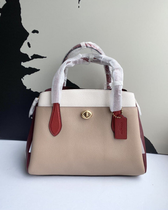 COACH LORA CARRYALL 30 (B4/TAUPE RED)