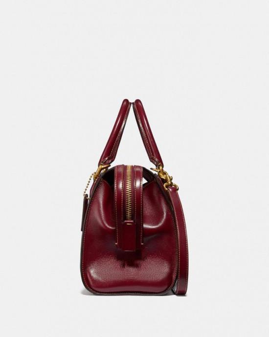 COACH  BOND BAG IN SIGNATURE JACQUARD (TAN SCARLET)