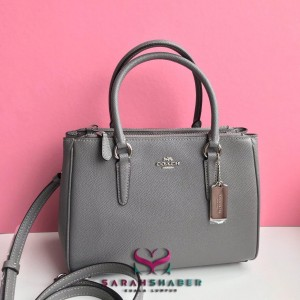COACH MINI SURREY CARRYALL (HEATHER GREY/SILVER)