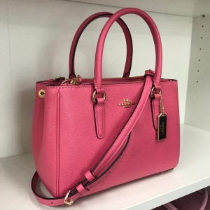 COACH MINI SURREY CARRYALL (IM/PINK RUBY)