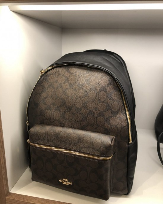 COACH CHARLIE BACKPACK IN SIGNATURE (BROWN/BLACK)