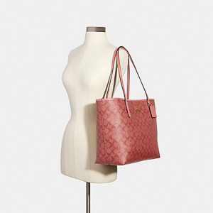 COACH CITY TOTE IN SIGNATURE CANVAS (IM/CANDY PINK) - ETA (ESTIMATED TIME ARRIVAL) MALAYSIA 9 FEBRUARY