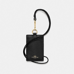 COACH ID LANYARD (BLACK/LIGHT GOLD)