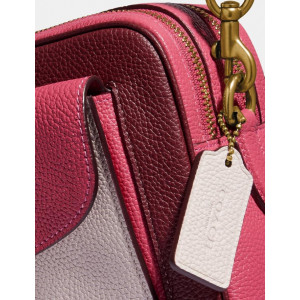 PRE ORDER - COACH CASSIE CAMERA BAG IN COLORBLOCK (BRASS/CONFETTI PINK MULTI)