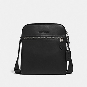 COACH HOUSTON FLIGHT BAG (BLACK/BLACK ANTIQUE NICKEL)