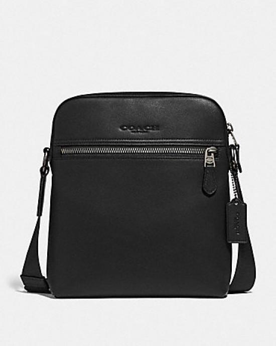 COACH HOUSTON FLIGHT BAG (BLACK/BLACK ANTIQUE NICKEL)