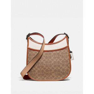 COACH EMERY CROSSBODY IN COLORBLOCK SIGNATURE (V5/TAN CHALK MULTI)