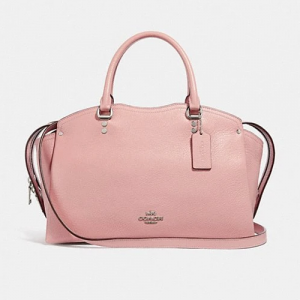 COACH GRAIN LEATHER DREW SATCHEL (BLOSSOM)