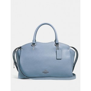 COACH GRAIN LEATHER DREW SATCHEL (SLATE)