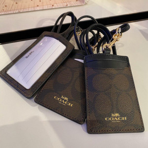 COACH ID LANYARD IN SIGNATURE CANVAS (IM/BROWN/BLACK) - ETA (ESTIMATED TIME ARRIVAL) MALAYSIA 7 MARCH
