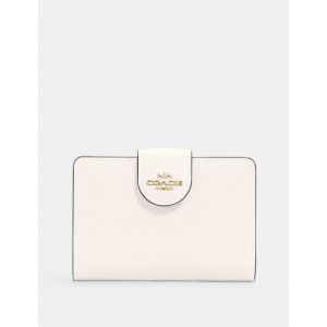 COACH MEDIUM CORNER ZIP WALLET WITH QUILTING (IM/CHALK) - ETA (ESTIMATED TIME ARRIVAL) MALAYSIA 27 FEBRUARY
