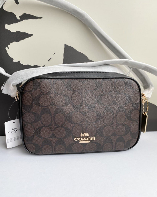 COACH JES CROSSBODY IN SIGNATURE CANVAS (IM/BROWN BLACK)