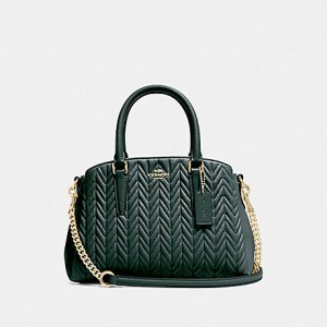 COACH MINI SAGE CARRYALL WITH QUILTING (EVERGREEN)