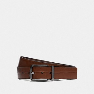 COACH WIDE MODERN HARNESS CUT-TO-SIZE REVERSIBLE BELT (SADDLE)