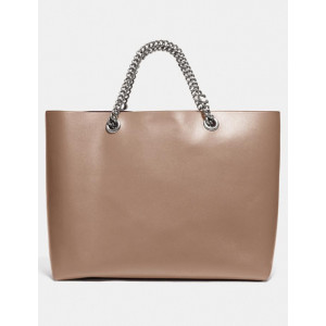 COACH SIGNATURE CHAIN CENTRAL TOTE (LH/TAUPE)