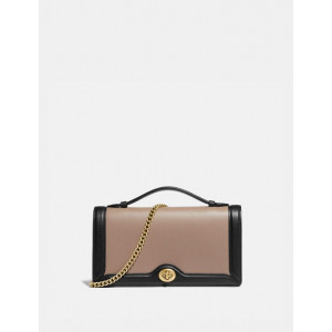 COACH RILEY CHAIN CLUTCH IN COLORBLOCK (B4/STONE MULTI)