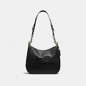 COACH JES LEATHER HOBO (GOLD/BLACK)