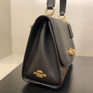 COACH TILLY TOP HANDLE SATCHEL WITH SIGNATURE CANVAS (IM/BROWN/BLACK) - ETA (ESTIMATED TIME ARRIVAL) MALAYSIA 16 JUNE